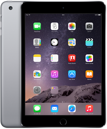 Appledocomo iPad mini3 Cellular 16GB スペースグレイ MGHV2J/A
