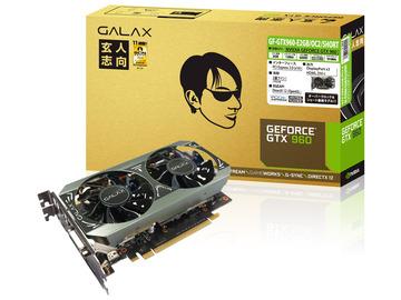 玄人志向GF-GTX960-E2GB/OC2/SHORT GTX960/2GB(GDDR5)/PCI-E