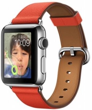 AppleApple Watch 38mm ステンレススチール/レッドクラシックバックル MMF82J/A
