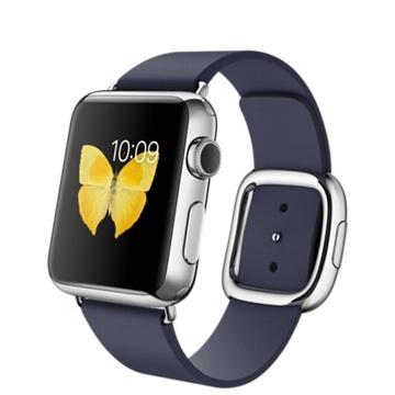 AppleApple Watch 38mm ステンレススチール/ミッドナイトブルーモダンバックル Mサイズ MJ342J/A