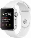 AppleApple Watch Series2 42mmシルバーアルミニウム/ホワイトスポーツバンド MNT22J/A