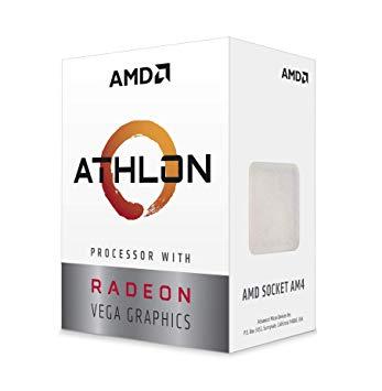 AMDAthlon 220GE(3.4GHz) BOX AM4/2C/4T/L3 4MB/Radeon Vega 3/TDP35W