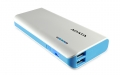 A-DATAAPT100-10000M-5V-CWHBL 10000mAhモバイルバッテリー 入力2A 出力2.1A+1A 2ポート ホワイト/ブルー