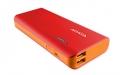 A-DATAAPT100-10000M-5V-CRDOR 10000mAhモバイルバッテリー 入力2A 出力2.1A+1A 2ポート レッド/オレンジ