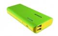 A-DATAAPT100-10000M-5V-CGRYL 10000mAhモバイルバッテリー 入力2A 出力2.1A+1A 2ポート グリーン/イエロー