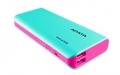 A-DATAAPT100-10000M-5V-CTBPK 10000mAhモバイルバッテリー 入力2A 出力2.1A+1A 2ポート ブルー/ピンク