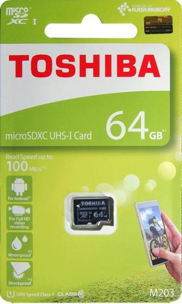 TOSHIBATHN-M203-0640-4 64GB microSDXC Class10 UHS-I R-100M
