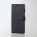 ELECOMPM-A17LPLFUSBK iPhone 8 Plus用ソフトレザーカバー/薄型/磁石付スナップ