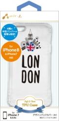 air-JAC-P7-TPS11 iPhone8/7/6/6s用 バンパーソフトクリアケース ロンドン