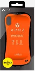 air-JAC-P8-AZ OR iPhoneXS/X兼用 耐衝撃スマートバックカバーケース オレンジ