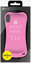 air-JAC-P8-AZ PK iPhoneXS/X兼用 耐衝撃スマートバックカバーケース ピンク