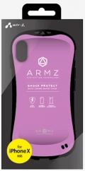 air-JAC-P8-AZ PR iPhoneXS/X兼用 耐衝撃スマートバックカバーケース パープル