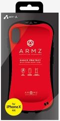air-JAC-P8-AZ RD iPhoneXS/X兼用 耐衝撃スマートバックカバーケース レッド