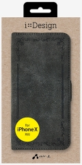 air-JAC-P8-VT GY ビンテージ調手帳型ケース iPhoneXS/X用 グレイ