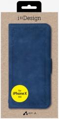 air-JAC-P8-VT NV ビンテージ調手帳型ケース iPhoneXS/X用 ネイビー