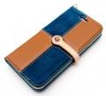 LIM'S DESIGNLE-IP6RCBB iPhone 6s/6用ケース Slim Fit Combination Diary Edition ブラウン&ブルイッシュグリーン