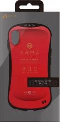 air-JAC-PX-AZ MRD iPhoneXS/X兼用 耐衝撃カバー マットエディション レッド